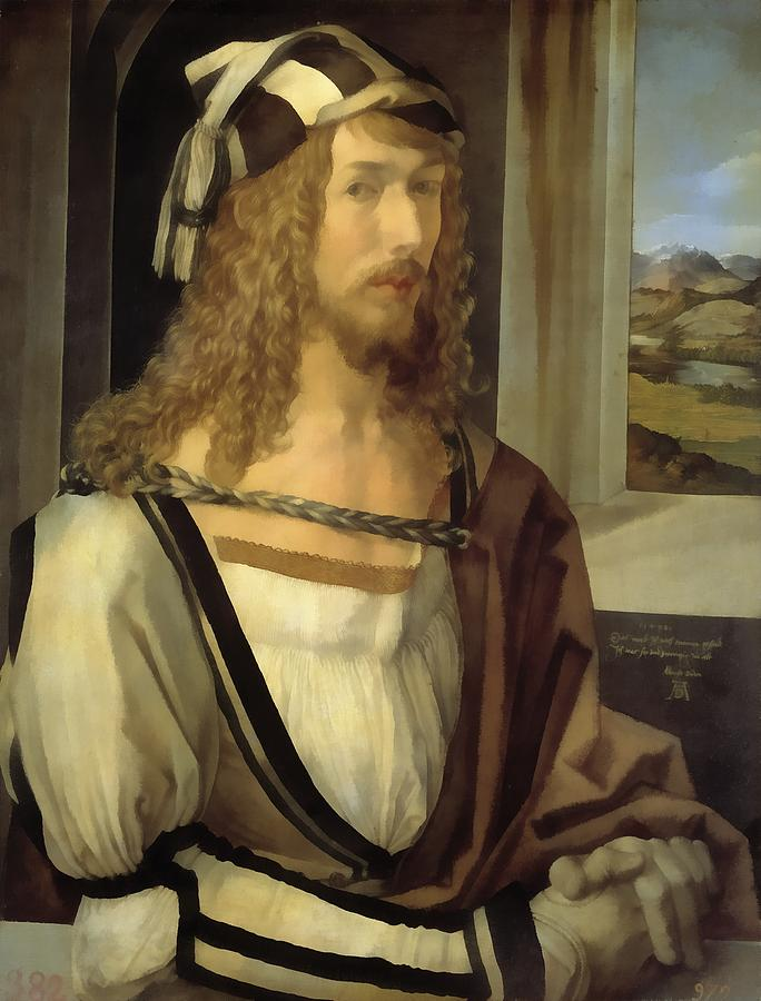 Albrecht Durer Digital Art - Self Portrait by Albrecht Durer