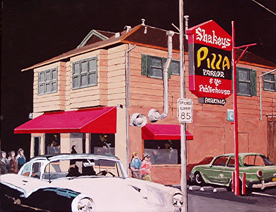 Sacramento Painting - Shakeys Pizza by Paul Guyer