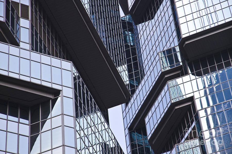 Abstract Photograph - Skyscraper Windows Background by IB Photography