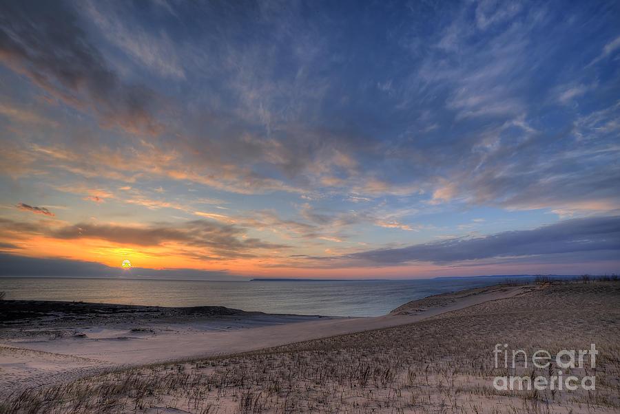 Sleeping Photograph - Sleeping Bear Dunes Sunset by Twenty Two North Photography