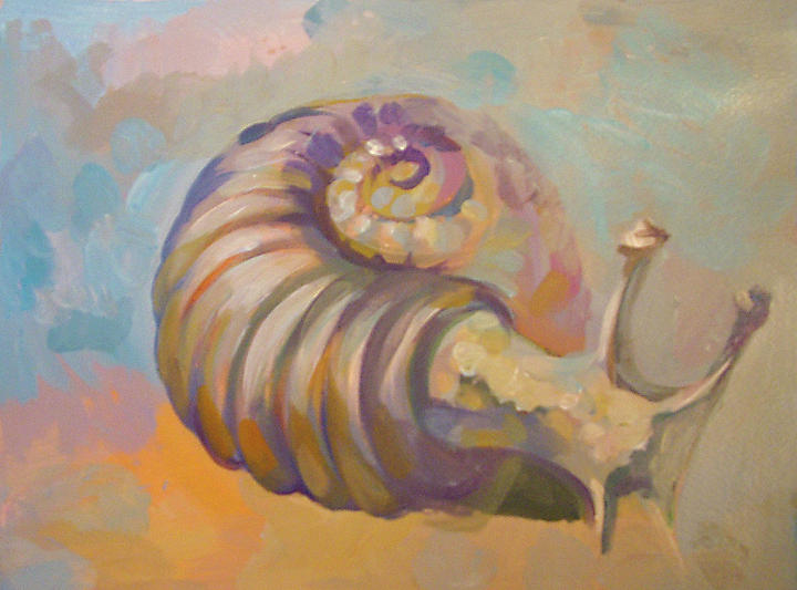 Snails Painting - Snail by Filip Mihail