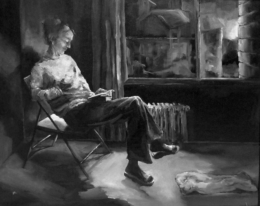 Woman Painting - Solitude by Diane Kraudelt