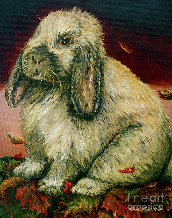 Rabbit Painting - Some Bunny Is A Honey by Linda Simon