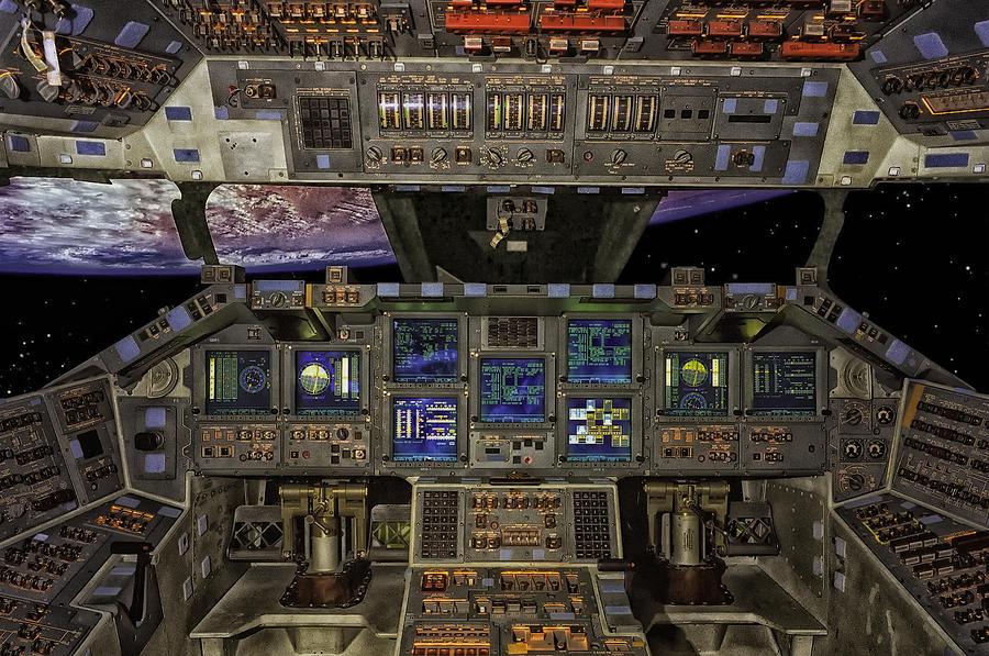 Space Shuttle Photograph - Space Shuttle Cockpit by Mountain Dreams