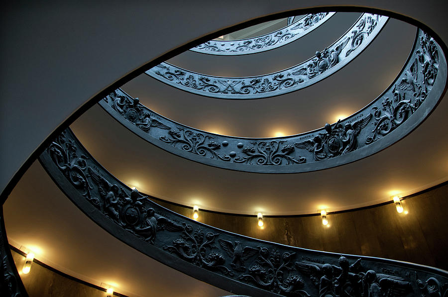 Spiral Staircase At The Vatican Photograph by Mitch Diamond