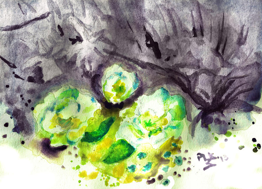 Painting - Spring Monochrome by Peg Holmes