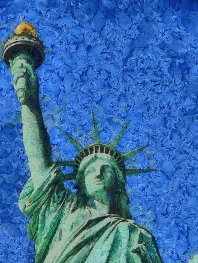 Statue Of Liberty Painting - Statue Of Liberty by Dan Sproul