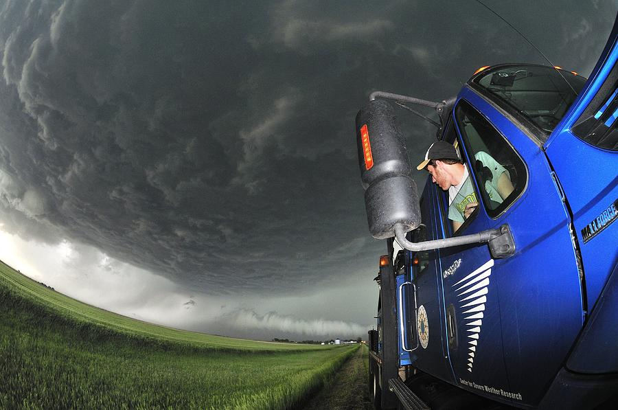 2010 Photograph - Storm Chasing, Nebraska, Usa by Science Photo Library