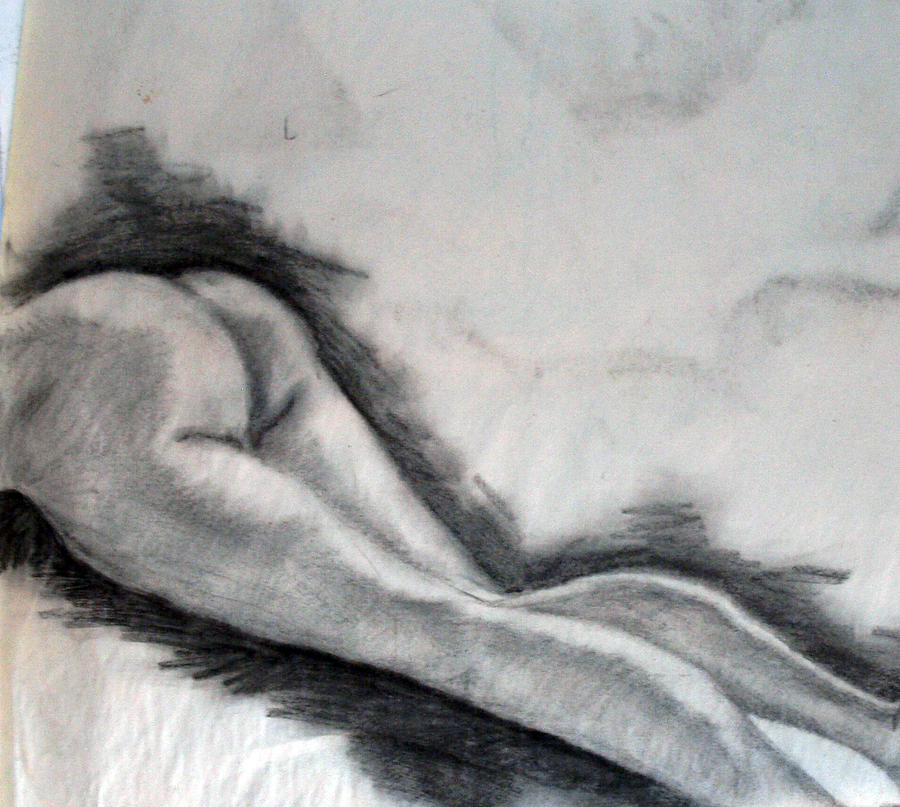 Nude Drawing - Study by Corina Bishop