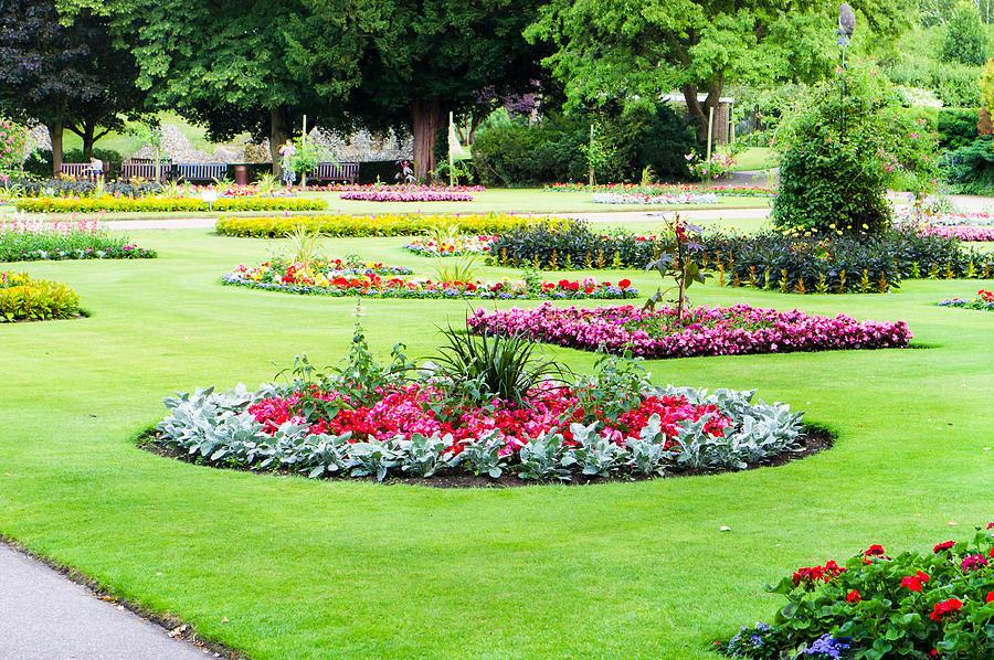 Abbey Photograph - Summer Garden by Tom Gowanlock