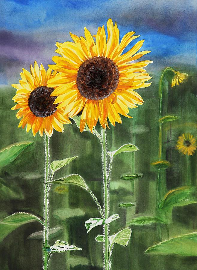 Sunflowers Painting - Sunflowers by Irina Sztukowski