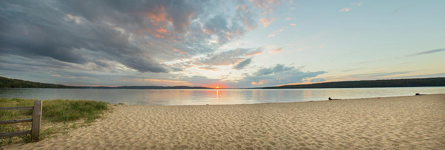 Horizontal Photograph - Sunset On South Bay, Lake Superior by Panoramic Images