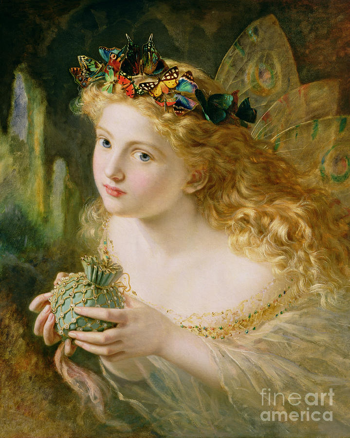 Female Painting - Take The Fair Face Of Woman by Sophie Anderson