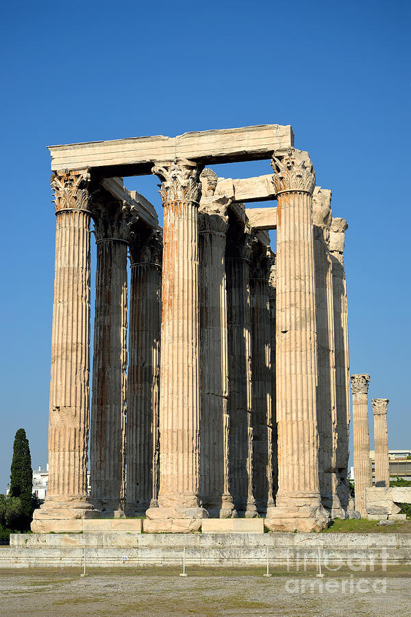 Temple Of Olympian Zeus In Athens Photograph by George Atsametakis