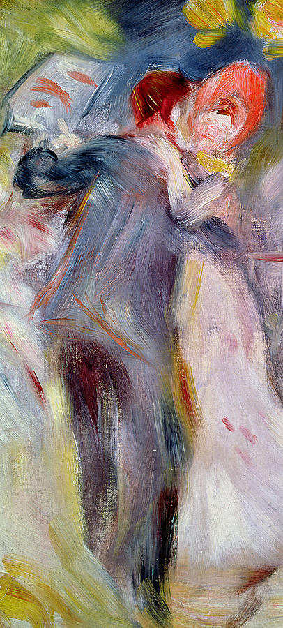 Impressionist Painting - The Dance In The Country by Pierre Auguste Renoir