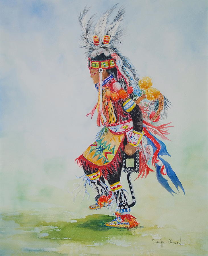Watercolor Painting - The Dancer by Marilyn  Clement