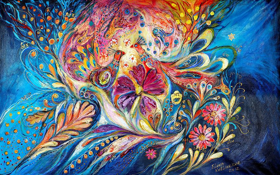Judaica Painting - The Flowers Of Sea by Elena Kotliarker