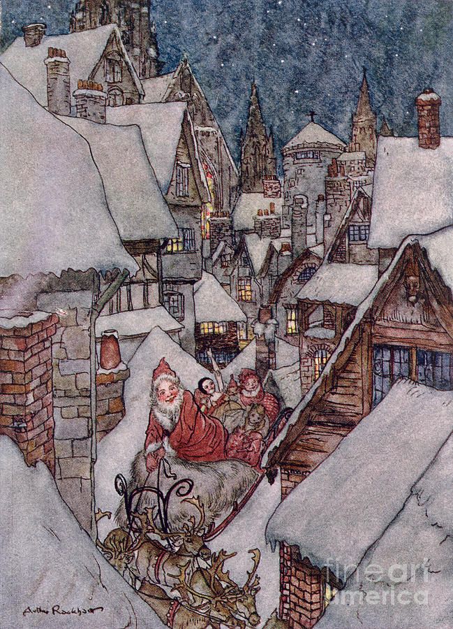 1931 Drawing - the Night Before Christmas by Arthur Rackham