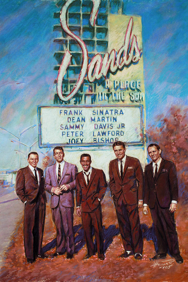 The Rat Pack Drawing - The Rat Pack by Viola El