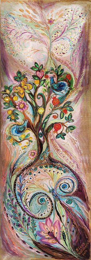 Judaica Store Painting - The Tree Of Life by Elena Kotliarker
