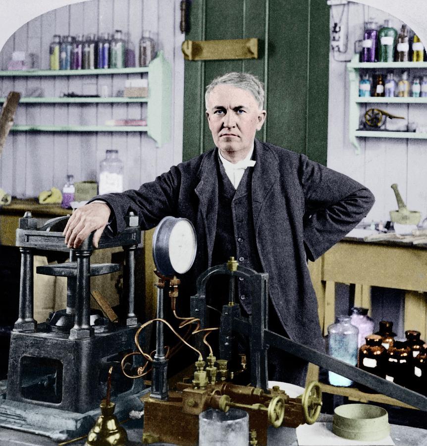 Thomas Edison Photograph - Thomas Edison by Library Of Congress