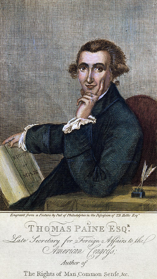1790s Photograph - Thomas Paine (1737-1809) by Granger