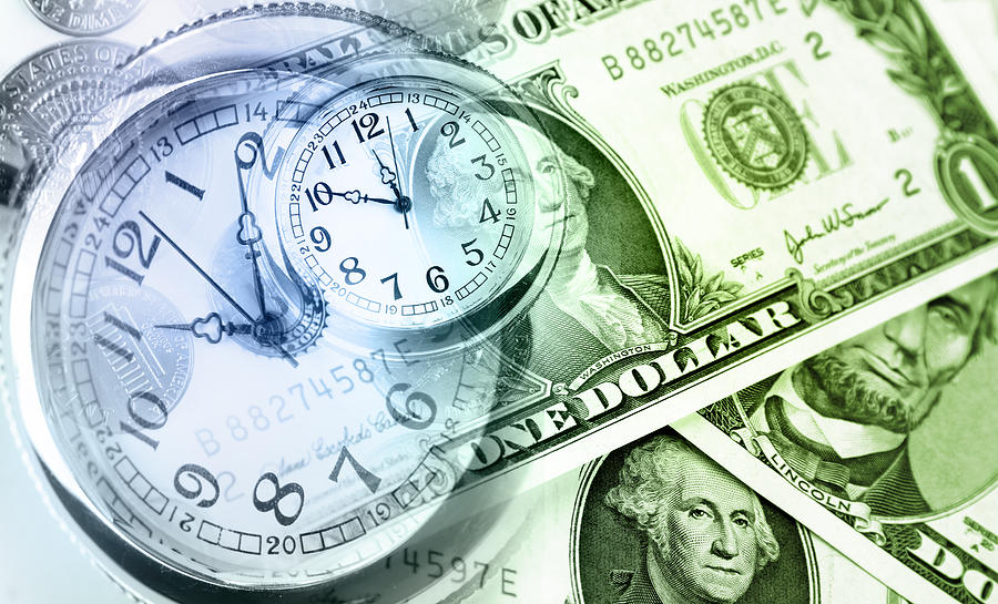 Banking Photograph - Time Is Money by Les Cunliffe