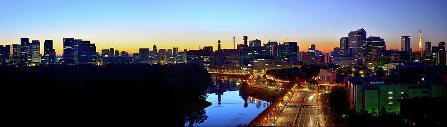 Tokyo Panorama  At Sunrise Photograph by Vladimir Zakharov
