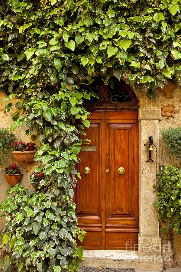 Arch Photograph - Tuscan Door by Brian Jannsen