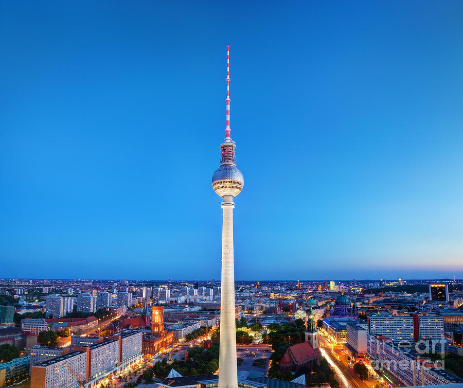Tv Tower Or Fersehturm In Berlin Photograph By Michal Bednarek