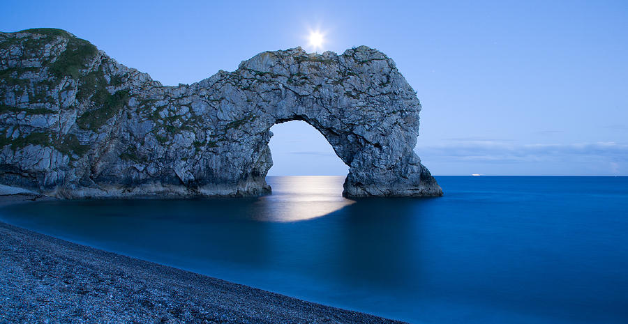 Durdle Photograph - Under The Moonlight by Ian Middleton