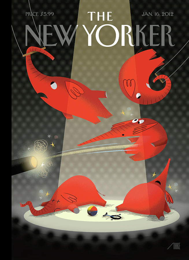 Political Circus Painting by Bob Staake