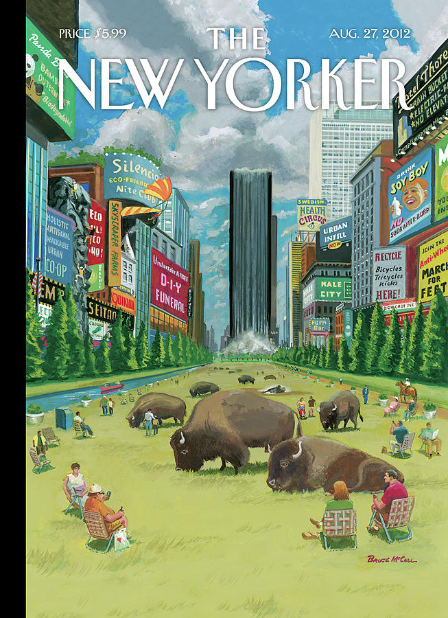 New Yorker August 27th, 2012 Painting by Bruce McCall