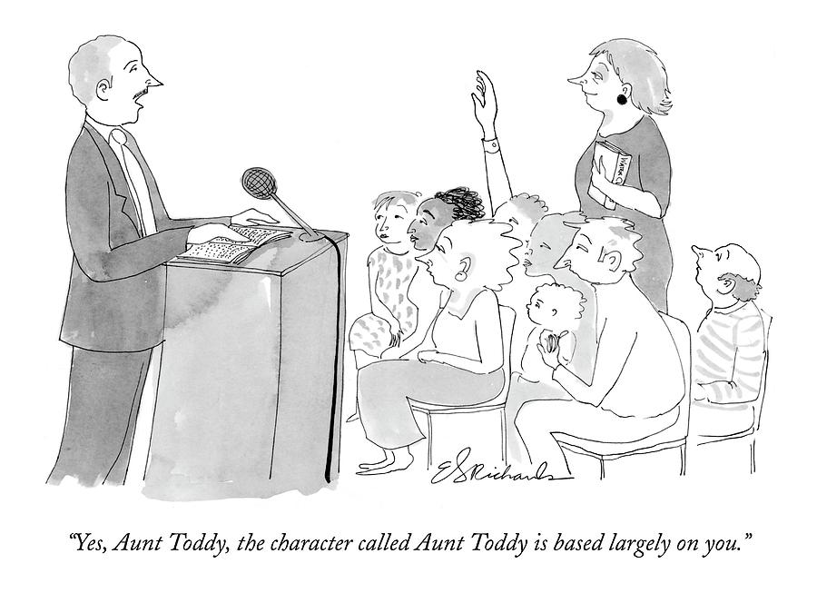 Yes, Aunt Toddy, The Character Called Aunt Toddy Drawing by Emily S. Hopkins