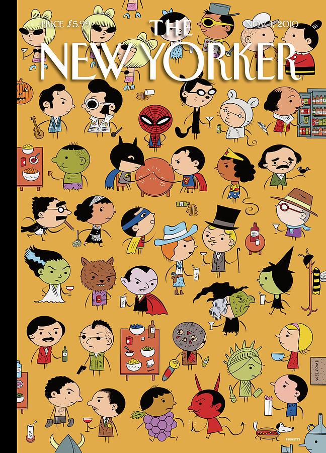 New Yorker November 1st 2010 Painting by Ivan Brunetti
