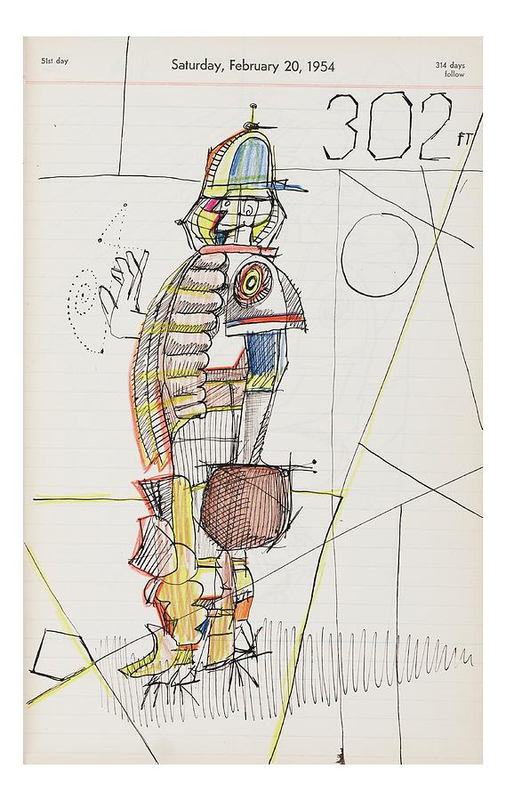 New Yorker October 24th, 2005 Drawing by Saul Steinberg