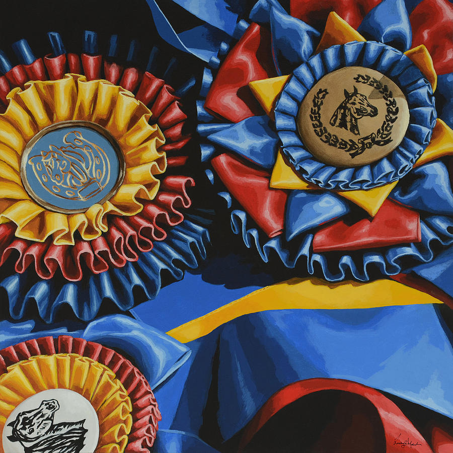 Horse Painting - Rewarding Efforts  by Lesley Alexander