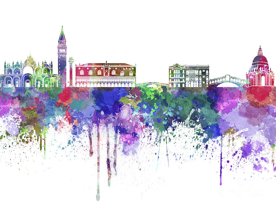 Acrylic Painting Skyline