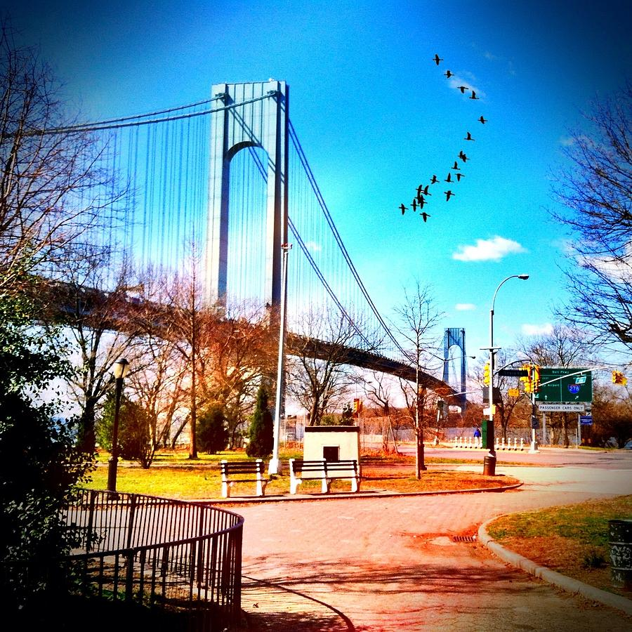 Verrazano Narrows Bridge Photograph - Verrazano Narrows Bridge by Frank Winters