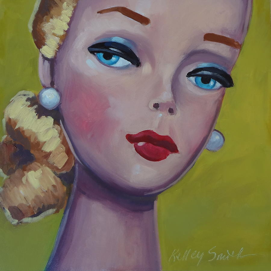 Barbie Painting - Vintage Toy Series by Kelley Smith