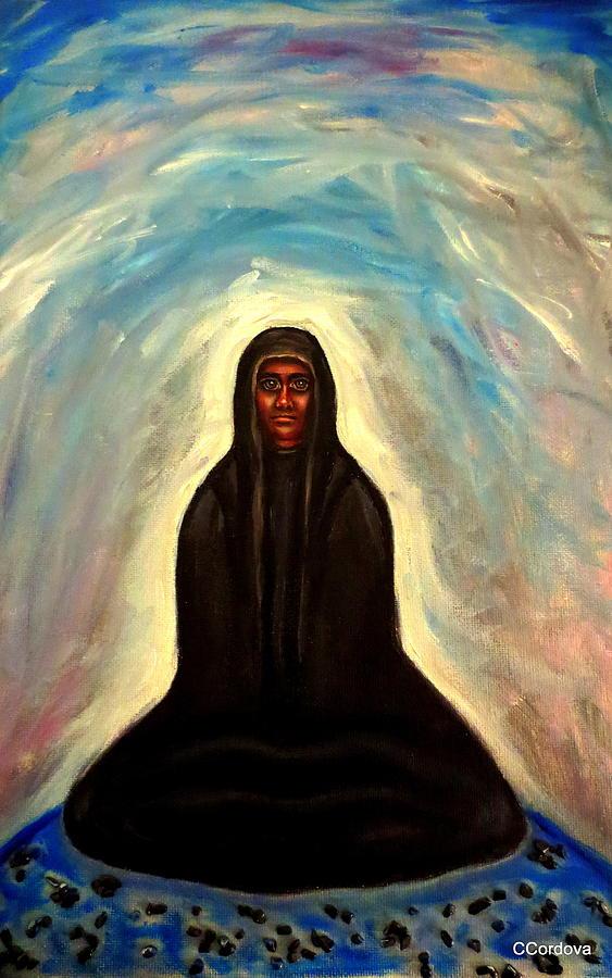 Evil Painting - Waiting... by Carmen Cordova