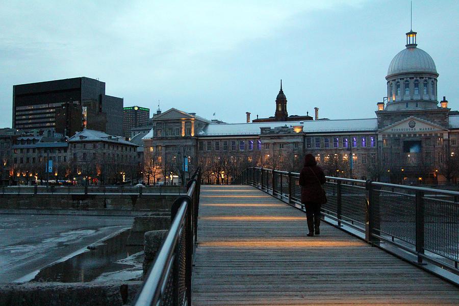 Montreal Photograph - Walking Alone by Munir Alawi