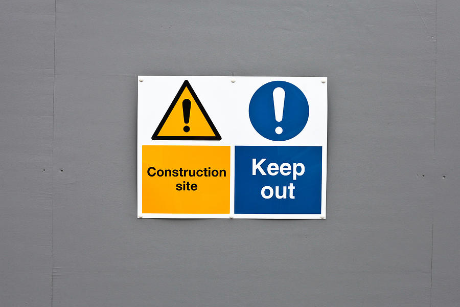 Background Photograph - Warning Sign by Tom Gowanlock