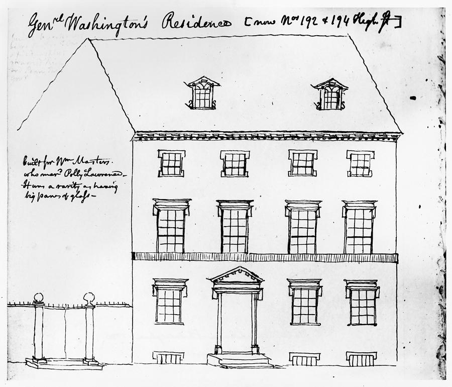 1790 Drawing - Washington Residence by Granger