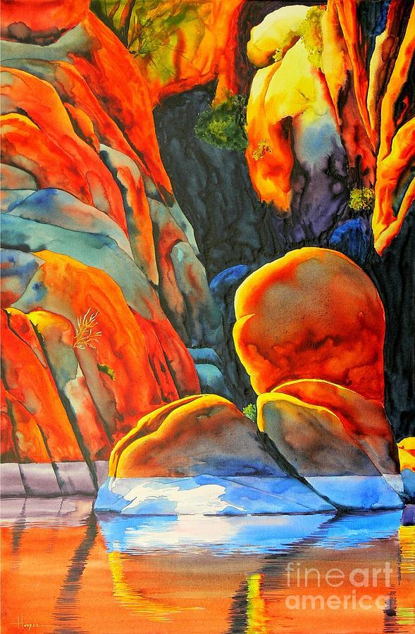Watercolor Painting - Watson Lake by Robert Hooper