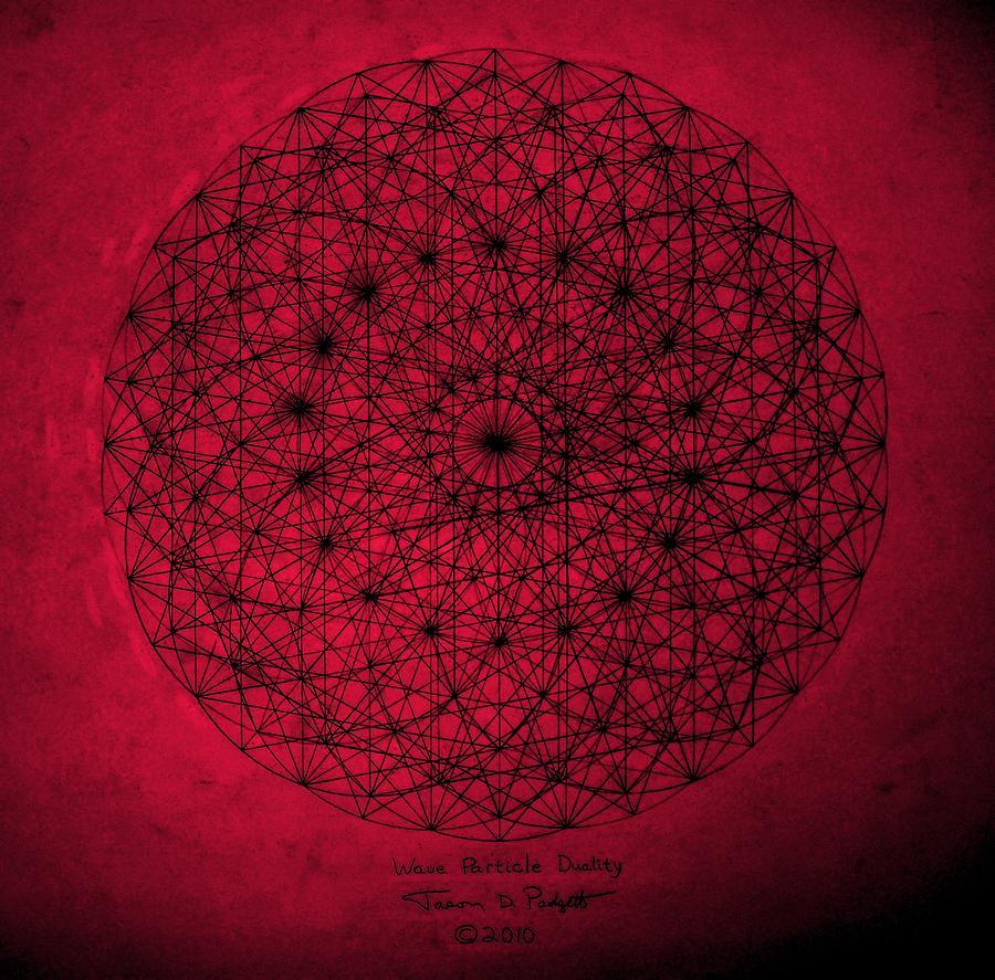 Jason Drawing - Wave Particle Duality by Jason Padgett