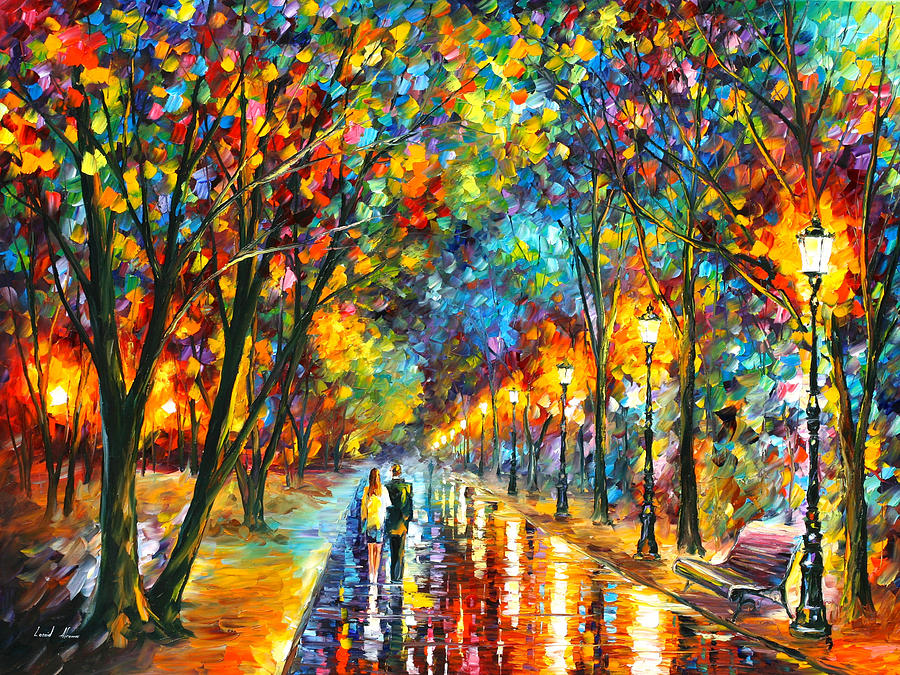 Park Painting - When Dreams Come True by Leonid Afremov