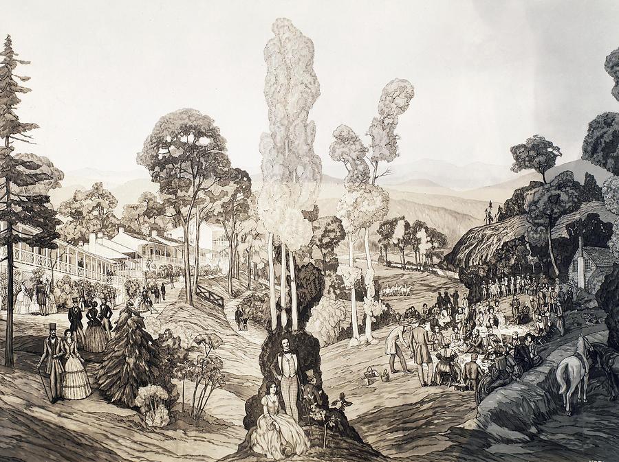 1850 Painting - White Sulphur Springs by Granger