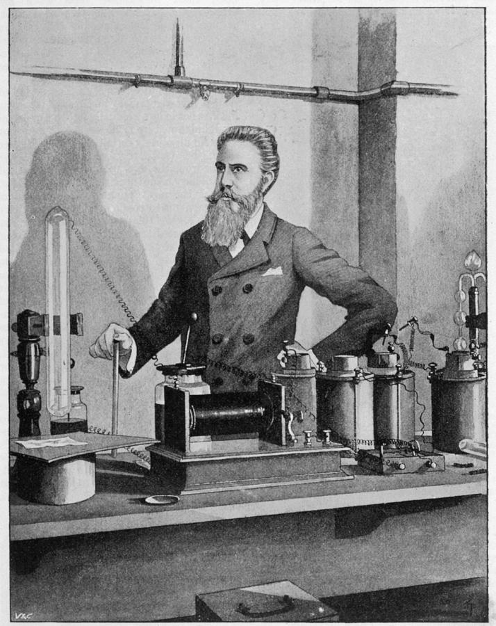 Wilhelm Conrad Rontgen (1845-1923) Drawing by Mary Evans Picture ...