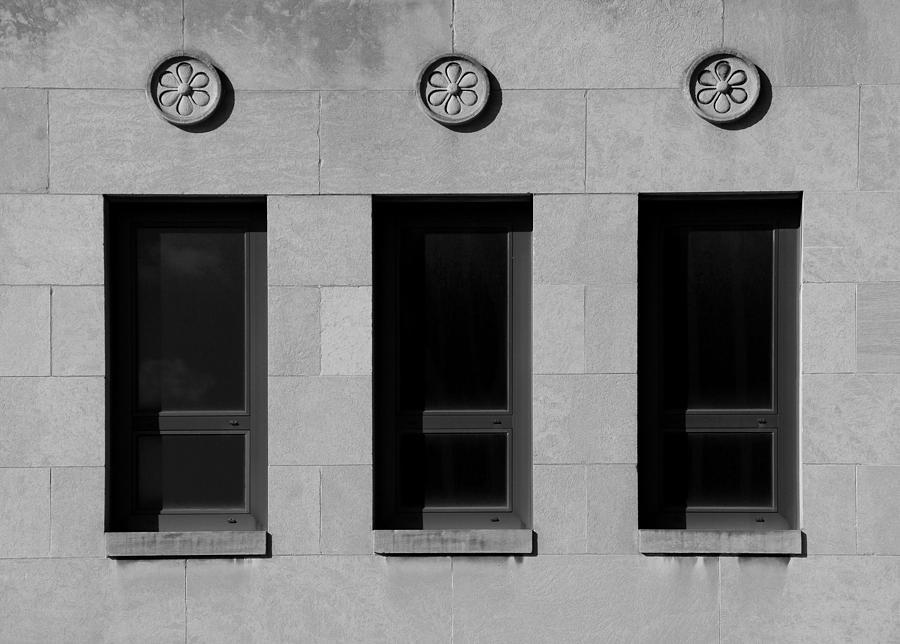 Windows Photograph - 3 Windows by Vince  Risner